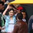 Katrina Kaif shootimg for Ek tha tiger in dublin