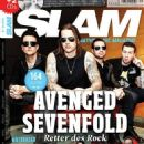 M. Shadows, Johnny Christ, Synyster Gates, Zacky Vengeance - SLAM alternative music magazine Magazine Cover [Germany] (November 2013)
