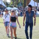 Richie Sambora, Ava Sambora and Orianthi at Day 3 of first weekend of The Coachella Valley Music and Arts Festival in Coachella, California on April 11, 2015 - 454 x 590