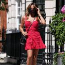 Lizzie Cundy in Mini Dress – Out in London - 454 x 621