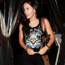 Courteney Cox Goes To Il Sole For Dinner, August 31 2006