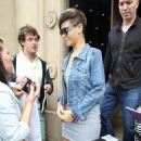 Rihanna Leaving Her Glasgow Hotel In Scotland - May 20, 2010