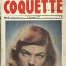 Lauren Bacall - Coquette La Cicala Magazine Cover [Italy] (25 January 1947)