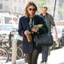 Ashley Benson seen walking around in New York City on October 11, 2015