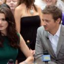 """Jeremy Renner and Rachel Weisz making an appearance on """"Good Morning America"""" (July 30)"""