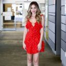 Ryan Newman in Red Mini Dress – Out in Los Angeles - 454 x 704