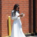 Bria Murphy in White Dress Out Shopping in Beverly Hills - 454 x 681
