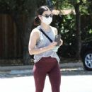 Lucy Hale – In tights out in Los Angeles