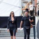 Irina Shayk – Arrives at Bottega Veneta Show at Milan Fashion Week