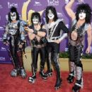 Kiss backstage at the 47th Annual Academy Of Country Music Awards held at the MGM Grand Garden Arena on April 1, 2012 in Las Vegas, Nevada - 454 x 349