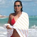 Padma Lakshmi Bikini Candids In Miami