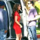 Jennifer Love Hewitt seen on the set of The Client List in West Hollywood, CA on February 22, 2012
