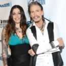 "Steven Tyler and Mia Tyler attend SiriusXM's ""Howard Stern's Birthday Bash"" at Hammerstein Ballroom on January 31, 2014 in NYC"