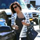 Eva Longoria: grabs lunch with a friend at Ammo in Hollywood
