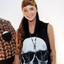 Ruby Rose poses during the official launch of Play.Create.Share by LittleBigPlanet exhibition at the MTV Gallery on October 29, 2008 in Sydney, Australia