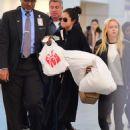 Selena Gomez Laguardia Airport In New York