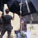 Justin Bieber is spotted doing a photo shot in Malibu, CA