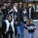 Alessandra Ambrosio Takes Her Kids to the Santa House at The Grove - 454 x 592