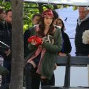 Lily Collins – On the set of 'Emily in Paris' in Paris - 454 x 679
