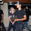 Taylor Lautner and Ashley Benson at Red O Mexican Restaurant in L.A. (August 9)