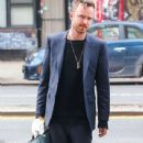 Aaron Paul and his wife Lauren Parsekian are seen arriving at The Bowery Hotel in New York City, New York on March 31, 2016 - 341 x 600