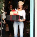 Olivia Culpo in Jeans – Christmas shopping at Espionage in LA