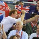 Prince Harry at the 2012 Olympics Cycling event on Day 11 (August 7)