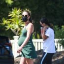 Lea Michele in Mini Dress – Out in Santa Monica