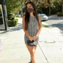 Addison Rae – In tight mini dress at a lunch date in West Los Angeles