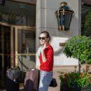 Phoebe Tonkin – Leaving her hotel in Paris