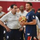 Stephen Curry #49 of the 2015 USA Basketball Men's National Team attends a practice session at the Mendenhall Center on August 11, 2015 in Las Vegas, Nevada - 454 x 348