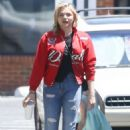 Chloe Moretz in Red Jacket out in Rome