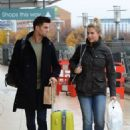 Gemma Atkinson and Aljaz Skorjanec – Arriving for dance rehearsals at a studio in Manchester - 454 x 641