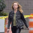Diane Kruger in Skinny Black Leather Pants – Los Angeles 9/21/2016 - 454 x 482