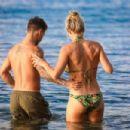 Gemma Atkinson in Bikini at the beach in Crete - 454 x 303