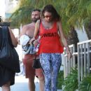 Alessandra Ambrosio seen leaving Soul Cycle in Brentwood, California after working up a sweat on August 30, 2015