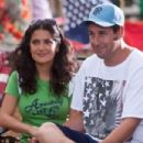 Roxanne (Salma Hayek) and Lenny Feder (Adam Sandler) in Columbia Pictures' GROWN UPS.  Photo By: Tracy Bennett. ©2009 Columbia TriStar Marketing Group, Inc. All Rights Reserved.