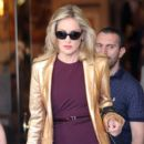 Sharon Stone: leaves her hotel in Madrid