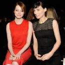 Emma Stone was spotted sitting front row at Calvin Klein's Fall 2012 Ready-to-Wear show in New York City, February 16