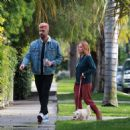 Brittany Snow – Walk her dog out in Los Angeles - 454 x 464