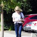 Emma Stone spotted leaving Andy Lecompte Salon in West Hollywood (August 29)
