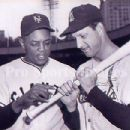 Stan with Willie Mays