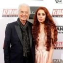 Jimmy Page, 75, is joined by girlfriend Scarlett Sabet, 29, at the Kerrang! Awards as the Led Zeppelin guitarist received Icon gong - 454 x 296