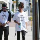 Jaden Smith is spotted shopping on Melrose in Los Angeles, California with a friend on October 14, 2016 - 442 x 600