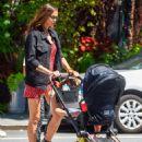 Irina Shayk – With her daughter in New York City