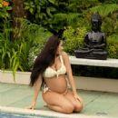 Marnie Simpson in Bikini on the pool in Cyprus - 454 x 631