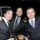 Actor Jason Statham (C), DJ Paul Oakenfold (R) and guest (L) attend The Weinstein Company's 2012 Golden Globe Awards After Party held at The Beverly Hilton hotel on January 15, 2012 in Beverly Hills, California