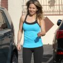 Candace Cameron In Leggings Dwts Practice In Los Angeles