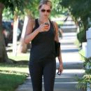 'Aquarius' actress Claire Holt stops by a friends house after leaving the gym in West Hollywood, California on September 4, 2014