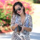 Chloe Goodman – Wears a zebra print jumpsuit out in Dubai - 454 x 615